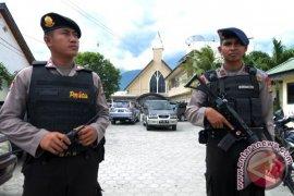 Pengamanan dipertebal di gereja Bekasi