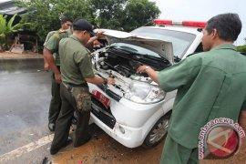 Mobil Rombongan Mentan Tabrakan Beruntun Di Kalsel