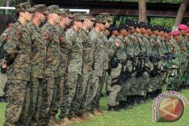Prajurit Marinir Indonesia Latihan Perang Bersama Prajurit Khusus AS