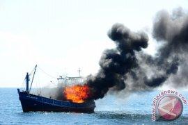 KKP Tenggelamkan Enam Kapal Di Perairan Mempawah