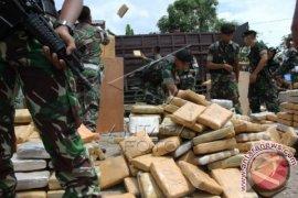 TNI Gagalkan Penyelundupan Ganja