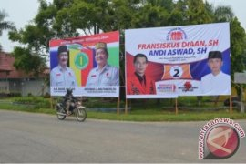 KPU Kapuas Hulu Mulai Pasang Alat Peraga Kampanye