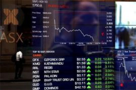 Saham Australia anjlok ketika pasar saham global masuki krisis