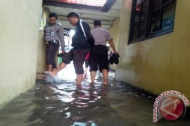 Polresta Banjarmasin Banjir Saat Hujan Deras
