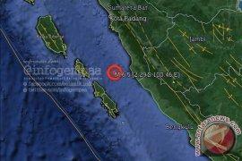 Getaran gempa Sumbar terasa kuat di Mukomuko