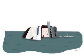 Kapal milik PT Timah terbalik di Perairan Babel