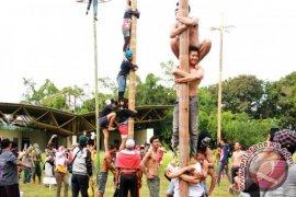 Panjat Pinang Massal Meriahkan HUT Kemerdekaan di Tenggarong