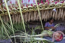 "Bahan ""Penjor"" Ramai Diburu Masyarakat Bali"