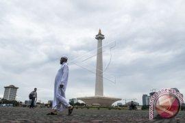 Aksi bela Palestina di Monumen Nasional Jakarta