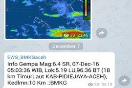 Aceh Diguncang 70 Gempa Susulan