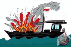 Kapal milik Pemkab Raja Ampat terbakar