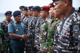 Pangarmatim Sambut Kedatangan KRI Sultan Iskandar Muda