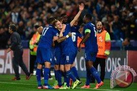 Dwigol Vardy bantu Leicester bekuk Fulham