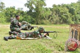 Korem Lilawangsa latihan menembak dengan simulator