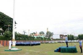 Upacara Peringatan Hari Pancasila Di Pemprov Lampung