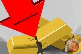 Emas berjangka sedikit menurun karena dolar AS stabil