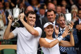 Hingis dan Murray Juarai Ganda Campuran Wimbledon