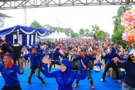 Senam Germas Memperingati Hari Hepatitis Sedunia Di Lampung