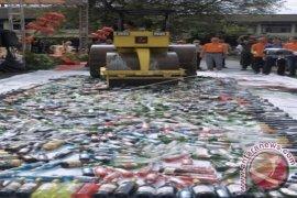 Pemusnahan Barang Bukti Polda Bali