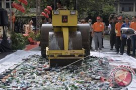 Polda Bali Memusnahkan Barang Bukti Narkoba