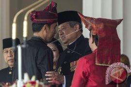 SBY dan Megawati Menghadiri Bersama Detik-Detik Proklamasi