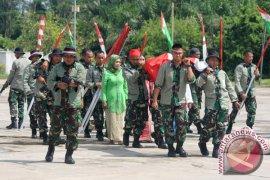Tabuhan Dol Meriahkan HUT TNI Di Bengkulu