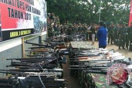 Kodam XVI/Pattimura Musnahkan 726 Pucuk Senjata Rakitan