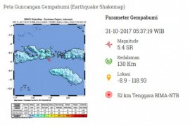 Gempa 5,4 SR Guncang NTB-NTT