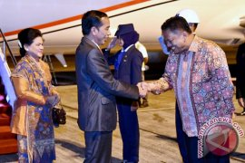 President Jokowi Arrives In Manado For Work Visit