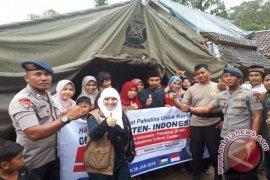 Muslimah Gaza bantu korban gempa Banten