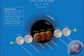 """Fenomena """"super blue moon"""" terlihat di Jambi"""