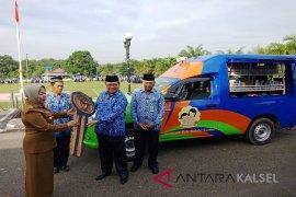 Mobil perpustakaan keliling Banjarmasin dilengkapi pendongeng