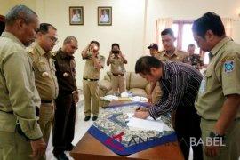 PUPR Babel tanda tangani kontrak Rp150,9 miliar