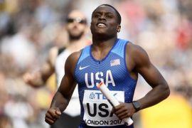 Christian Coleman juara dunia 100 meter di Qatar