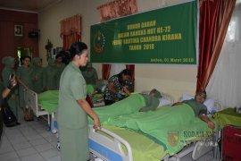 Kodam Pattimura gelar donor darah HUT Persit