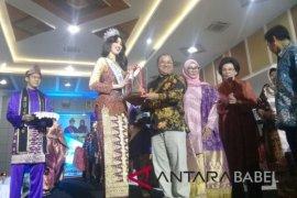 Gubernur Babel berharap  Putri Indonesia promosikan tenun cual