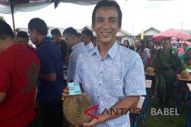 Warga Desa Air Mesu Bangka Tengah gelar kontes durian