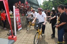 UI-Telkomsel kerja sama implementasikan bike sharing kampus