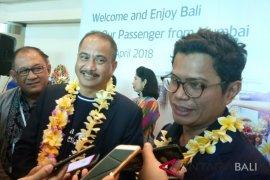 Penumpang penerbangan perdana Garuda Mumbai-Bali capai 82 persen
