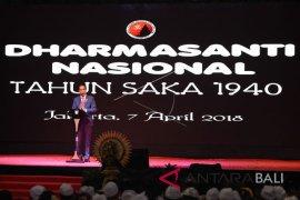 Presiden Hadiri Dharma Santi Nasional (Foto)