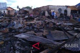 BPBD Babel bangun dapur umum korban kebakaran