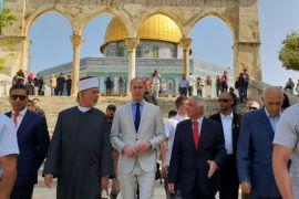 Sejumlah orang Yahudi  rayakan  Paskah di  Kompleks Al-Aqsha