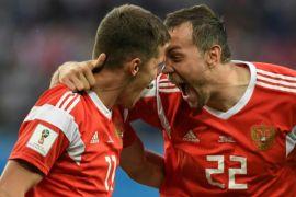 Piala Dunia - Rusia Berpesta usai Kalahkan Mesir 3-1