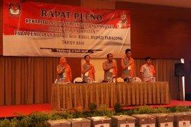 KPU Tabalong  gelar  pleno hasil perhitungan suara