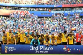 Peringkat ketiga Piala Dunia itu adalah Belgia
