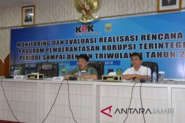 KPK monev pencegahan korupsi terintegrasi di Jambi