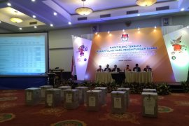 Rapat pleno hasil rekapitulasi di KPU Bogor berjalan kondusif