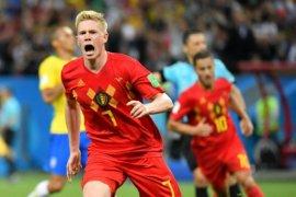 Belgia singkirkan Brasil 2-1 di perempat final Piala Dunia