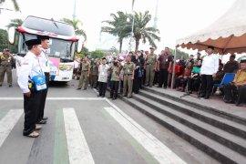 Jamaah Haji Kloter 2 Kota Tangerang Tiba