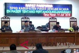 DPRD Paser rancang Perda pertanggungjawaban keuangan